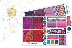 Planner Sticker Weekly Kit Batik for your Erin Condren Life Planner, Plum Paper…
