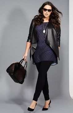 Leggings are tight, skinny and show everything , so there's no way a full-figured 40+ gal could ever wear them, right?.... NOT!  Leggings are a great casual look for mature women, regular or...