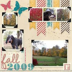 MDS2 Fall Digital Scrapbook Page, Christy Fulk, Stampin' Up! Demo
