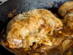 French Onion Chicken Skillet looks easy. I would toss seasonings in a bag and toss chicken in to coat rather than sprinkle on