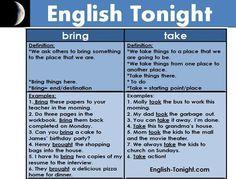 Forum   .   Fluent LandThe Difference between BRING and TAKE   Fluent Land