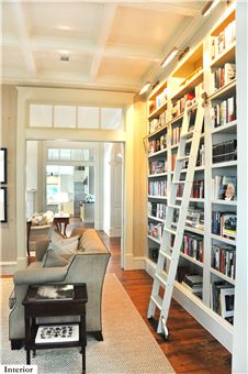 A house in Palmetto Bluff that won the NAHB award.  Love this library!