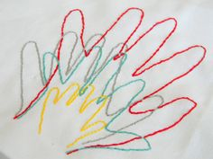 Embroidered Hand Prints | Inspired By Family Magazine