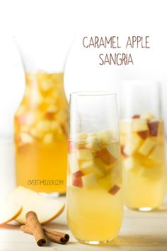 Caramel Apple Sangria is a delicious drink that's brimming with fall flavors!