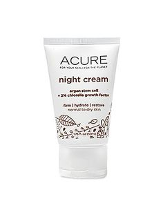 """Dewy skin looks younger than dry skin—and it acts younger, too. """"Reinforcing the skin's moisture barrier helps keep out aging free radicals,"""" says dermatologist Jeannette Graf. Acure Night Cream, $18"""