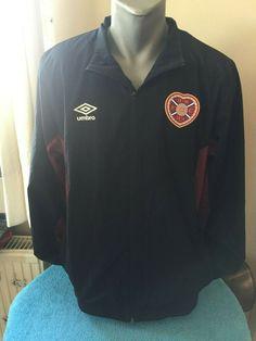 cc1d1f80c HEART OF MIDLOTHIAN FC Retro Football SPL Soccer Training Jacket Top  SCOTLAND #Umbro Soccer Jerseys