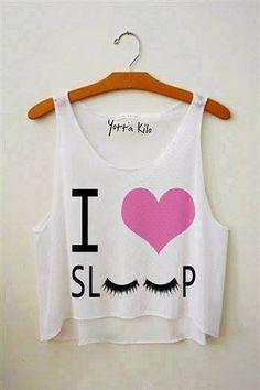 'love sleep' crop top