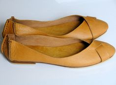 NATIVE Leather ballet flats / womens shoes / flat shoes by BaliELF, $90.00