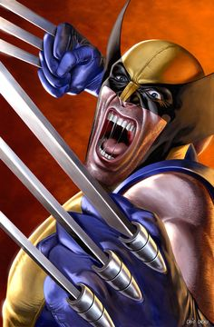 "A rough and rugged brawler with razor-sharp indestructible claws, Wolverine remains on the side of right while testing the definition of ""good guy"" by the playing fast and loose with the rules."