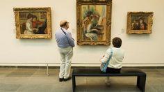 Interior of Orangerie Museum. Unsung museums of Paris