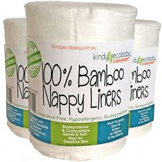 720 X Flushable Biodegradable Baby Bamboo Nappy Liner/Insert Wipes, genuine, eco