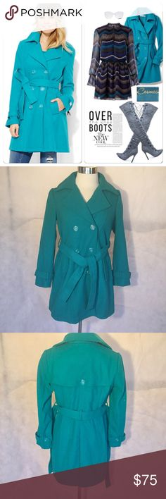"""🆕 🎉HP -NY and Company Wool Blend Trench Coat -M This wool blend trench coat by New York and Company is New Without Tags and has never been worn. It is very warm and allows for sweaters to be worn underneath without you feeling bulky. M = sz. 8  Bust - 36.5"""" Waist - 29"""" Hips - 38.5"""" New York & Company Jackets & Coats Trench Coats"""