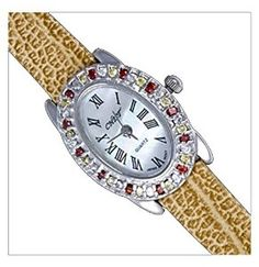 Silver Watch, Cz, Oval by UK Gems Expensive Watches, Most Expensive, Quartz Watch, Bracelet Watch, Silver Jewelry, Cufflinks, Gems, Bling, Brooch
