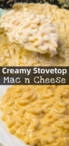 Creamy Stovetop Mac and Cheese - This is Not Diet Food Creamy Stovetop Mac and Cheese is an easy and delicious homemade macaroni and cheese recipe made with cheddar cheese soup, heavy cream, mozzarella and cheddar cheese. Cheddar Mac And Cheese, Stovetop Mac And Cheese, Creamy Macaroni And Cheese, Macaroni Cheese Recipes, Queso Cheddar, Creamy Cheese, Recipes With Cheese Soup, Mozzarella Cheese Recipe, Tutorials
