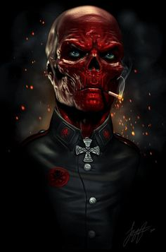 Red Skull - Art by Jonathan Straughan