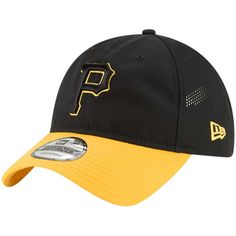 9fc10a3dc8c Men s Pittsburgh Pirates New Era Black Gold Prolight Batting Practice  9TWENTY Adjustable Hat