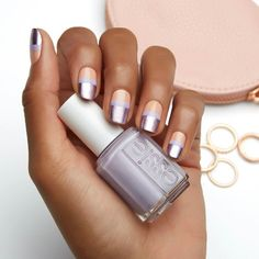 nothing else metals when you're rocking this chic metallic essie nail art design