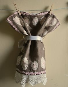 dress made from vintage hanky and antique pillow case :)