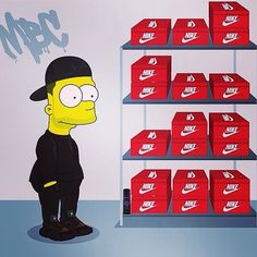 Stream Bloody Shoes by Yung Moss from desktop or your mobile device Graffiti Cartoons, Dope Cartoons, Cartoon Pics, Cartoon Art, Los Simsons, Simpson Wallpaper Iphone, Trill Art, Simpsons Art, Lit Wallpaper