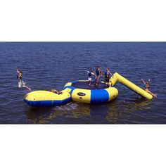 Rave Sports Bongo 20 ft. Water Trampoline with Slide and Launch | from hayneedle.com