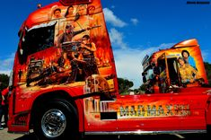 Customised Trucks, Custom Trucks, Show Trucks, Big Trucks, Custom Big Rigs, Volvo Trucks, Cool Paintings, Custom Paint, Buses