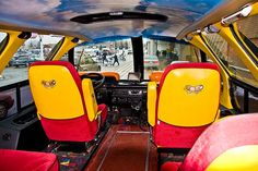 Interior of the Oscar Meyer Weinermobile! I used to see this around town growing up as a kid. Henry Ford Museum, Oscar Mayer, Trucks Only, Movie Cars, Making Memories, The Good Old Days, Old Cars, Buses, Custom Cars