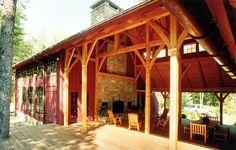 Platt Architecture, PA | Big Timberframe Dogtrot |