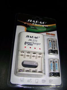Cargador JIBAO Charger Cargador de pilas recargables AA digital power