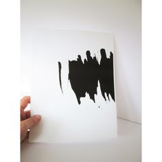 Abstract Acrylic Painting; Minimalist Painting Archival Art Print... (65 ILS) via Polyvore featuring home, home decor, wall art, black paintings, acrylic painting, acrylic home decor, black wall art and acrylic wall art