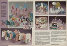 Montgomery Ward Christmas catalog - 1984 - My Little Pony 1980s Christmas, Christmas Catalogs, 80s Images, Vintage My Little Pony, Montgomery Ward, New Friendship, Leaflets, Party Venues, Ol Days