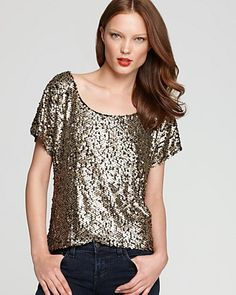 Vintage Havana Tee - Gold Sequin - Shine - Women's Trends - Fall Style Guide: It's On - LOOKBOOKS - Fashion Index - Bloomingdale's