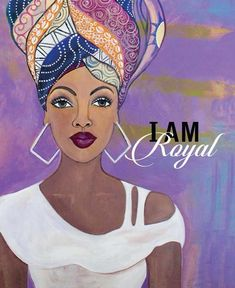 "Happy & Healthy: African American Magnet by Sylvia ""Gbaby"" Cohen I am Royal: African American Magnet by Sylvia ""Gbaby"" Cohen inches) Black Love Art, Black Girl Art, Black Is Beautiful, Black Girl Magic, Black Girls, Art Girl, Black Art Painting, Black Artwork, Black Women Quotes"