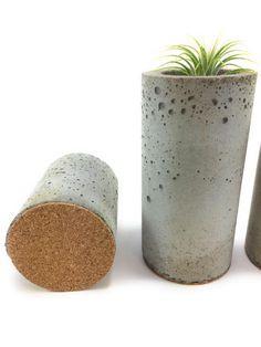 Concrete Succulent Planters/Air Plant Planters. set of 3