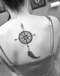Tags: antique tattoos arrow tattoo designs clock tattoo compass designs compass tattoo compass tattoo ideas compass tattoo ideas for men compass tattoo Simple Compass Tattoo, Compass Tattoo Design, Arrow Tattoo Design, Girl Back Tattoos, Back Tattoo Women, Tattoos For Guys, Tattoos For Women, Tattoo Designs And Meanings, Tattoo Designs For Women