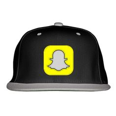 Snapchat Logo Embroidered Snapback Hat Snapchat Logo, Clothing Logo, Custom Hats, Snapback Hats, Caps Hats, Fathers Day Gifts, Cool Designs, Baseball Hats, Winter Hats