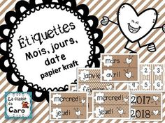 Core French, French Class, French Teacher, Teaching French, Teacher Helper, Teacher Pay Teachers, Date, Learn French, Learning