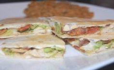 Chicken bacon avocado quesdillas - I'm looking for avocado recipes and like quesadillas - so this is one I'll be trying :)