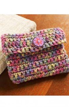 Best Free Crochet » Free Crochet Change Purse Crochet Pattern from RedHeart.com #330