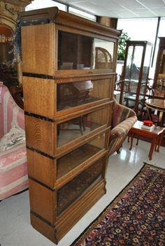 Antique Tiger Oak 5 Stack Barrister, Lawyer Case Bookcase Circa 1920