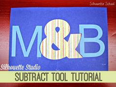 Silhouette 'Subtract' & 'Subtract All' Tool Tutorial