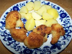 Recept Smažený květák: fried cauliflower with potatoes- Czech food sooo good.