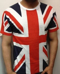 Unisex Union Jack T Shirt London Olympics 2012 Great Britain Queens Diamond Jubilee LARGE: Amazon.co.uk: Clothing