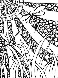 Abstract Doodles: FREE pages to print and color. I really want to get my sharpies out and color this!