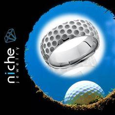 Golf anyone? Colbalt Chrome 8mm Domed Band. #utahwedding #utahweddings #utah #utahisrad #utahvalleybride #jewels #jewelrydesign #jewelrygram #custommaderings #customjewelry #engagement #engagementrings #engagementring #engagements #madeinusa #golf #golfr