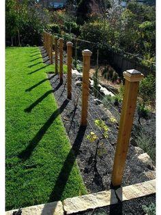 contemporary landscape by Lazar Landscape Design and Construction. What a neat look for grape trellis!