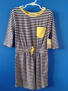 NWT! HARPER CANYON Navy Patriot White Stripe Dress Size 7-8 NEW! #HARPERCANYON