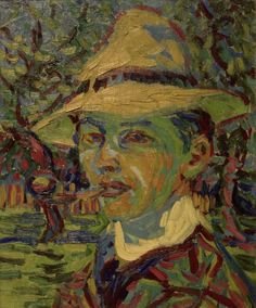 Ernst Ludwig Kirchner - Self-portrait with a pipe.