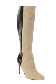 #autumndreamery - Jayson Brunsdon Black and Nude Colourblock Mod Stiletto Boots $429 @ www.the-dreamery.com    http://www.the-dreamery.com/Shoes/Boots/Black-and-Nude-Colourblock-Mod-Stiletto-Boots