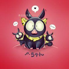 everybodymanic:  P-Chan! #Pchan #ranma #anime #manga #piggy #ryoga #kawaii