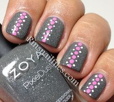 Zoya Nail Polish in London with dotted nail design